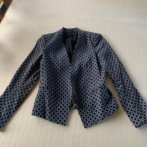 Theory blue patterned jacket
